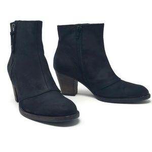 Paul Green Black Nubuck Zip Booties Size 7.5